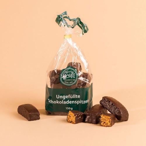 Ungefüllte Schokoladenspitzen
