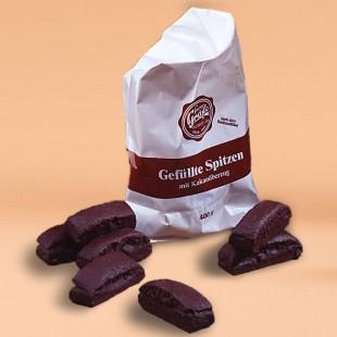 Gefüllte Kakaospitzen