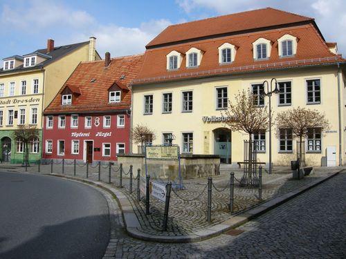 Julius-Kühn-Platz in Pulsnitz, Sachsen