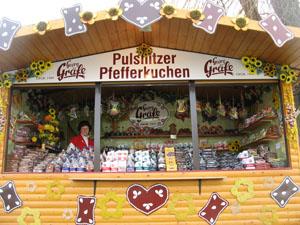 Georg Gräfe Pfefferkuchen Verkaufsstand Moritzburg