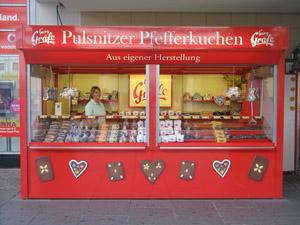 Georg Gräfe Pfefferkuchen Verkaufsstand Dresden Innenstadt Prager Straße