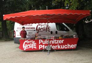 Georg Gräfe Pfefferkuchen Verkaufsstand Pillnitz Schlosspark