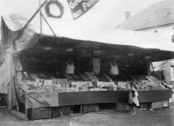 Verkaufsstand um 1925